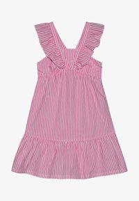 Scotch & Soda - CRISPY DRESS IN YARN DYED STRIPES - Korte jurk - pink/white - 3
