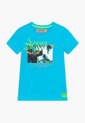 HAFSSA - Print T-shirt - pacific blue