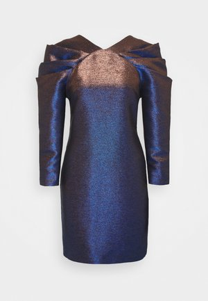 IRIDISCENT DRESS - Vestido de cóctel - dark blue
