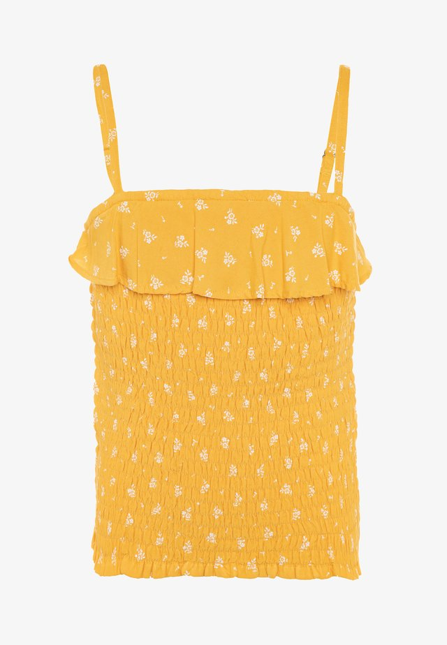SMOCKED MATCH - Top - yellow