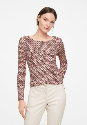 Long sleeved top - red graphic minimal