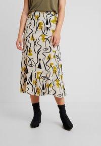 Monki - HALO SKIRT - A-line skirt - beige - 0