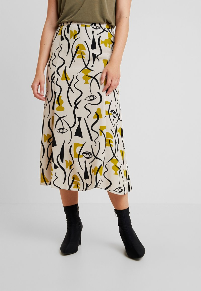 Monki - HALO SKIRT - A-line skirt - beige