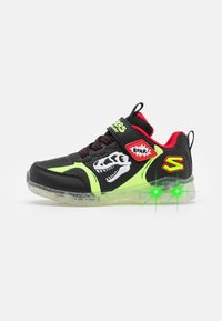 Skechers - ILLUMI-BRIGHTS - Trainers - black/lime//red - 0