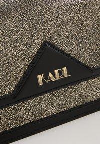 KARL LAGERFELD - SHOULDER BAG - Across body bag - bronze - 3