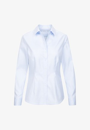 SCHWARZE ROSE - Button-down blouse - blau