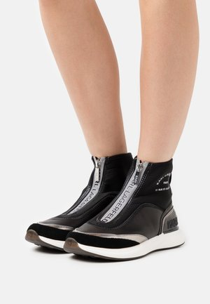 FINESSE LEGERE ZIP - High-top trainers - black/silver
