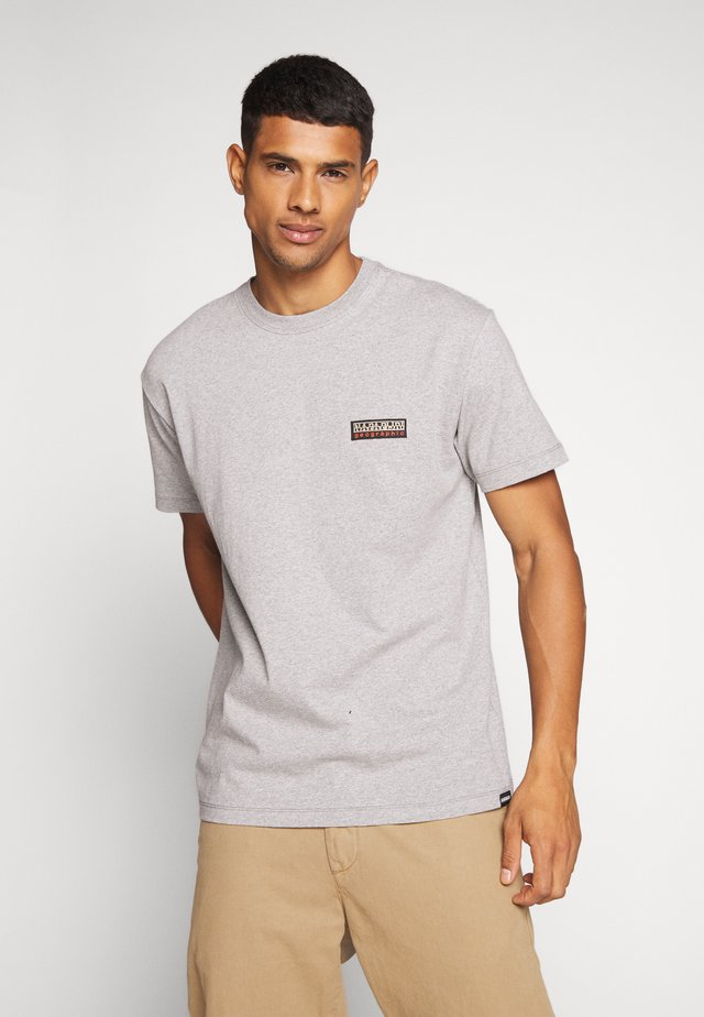 SASE - Print T-shirt - mediu, grey melange