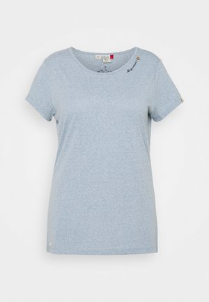 Print T-shirt - dusty blue