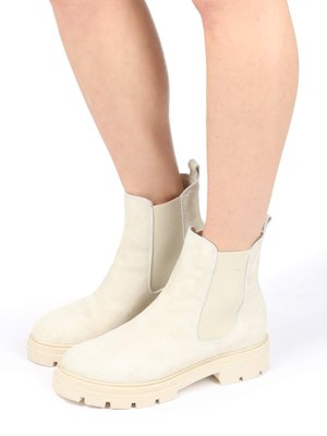 Classic ankle boots - panna