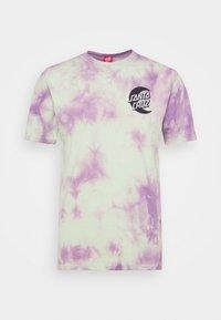 Santa Cruz - MOON DOT MONO UNISEX - T-shirt imprimé - lilac - 4