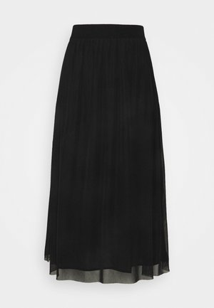 THORA VIOL LONG SKIRT - Gonna a campana - black