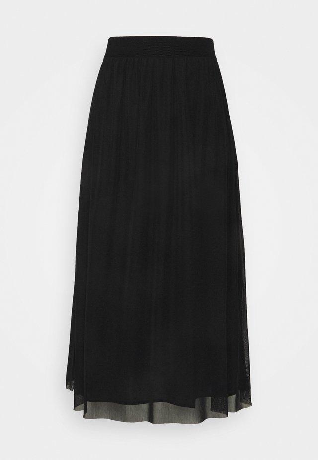 THORA VIOL LONG SKIRT - A-line skirt - black