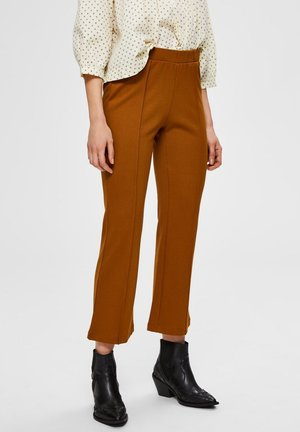 Trousers - bronze brown