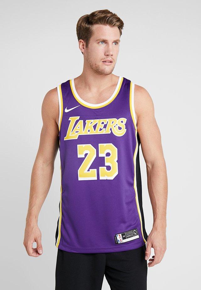 NBA LA LAKERS LEBRON JAMES SWINGMAN - Club wear - purple