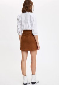 DeFacto - A-line skirt - brown - 1