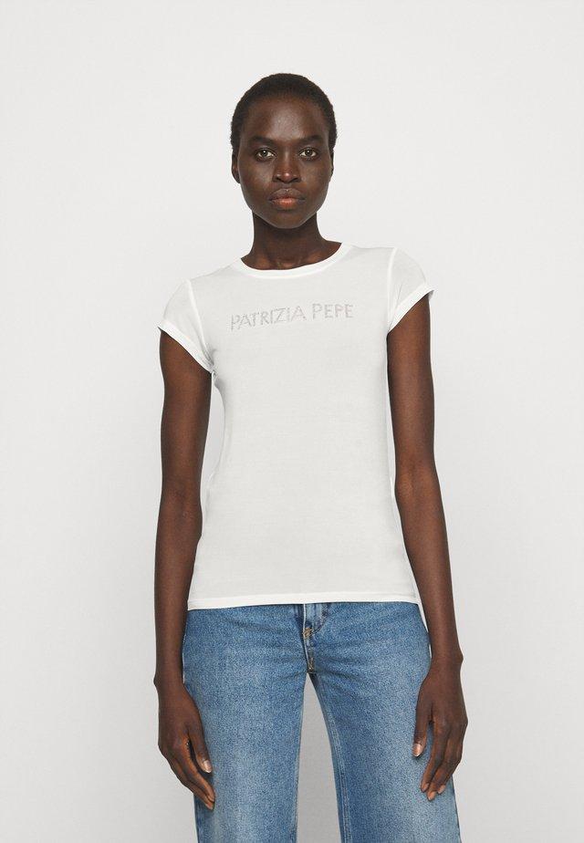 MAGLIA - T-shirt imprimé - bianco