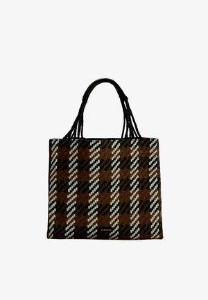 GEFLOCHTENE - Tote bag - black, brown