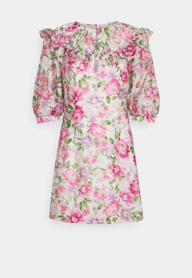 DENISE RUFFLE DRESS - Day dress - belladonna bloom