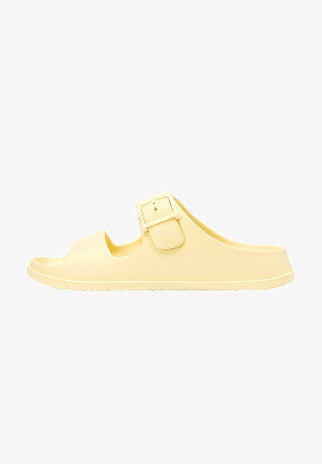 RUBBERISED - Pantofle - yellow