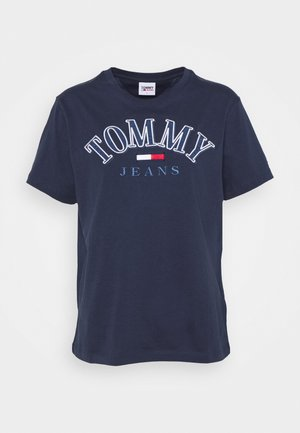 COLLEGE LOGO TEE - Print T-shirt - twilight navy