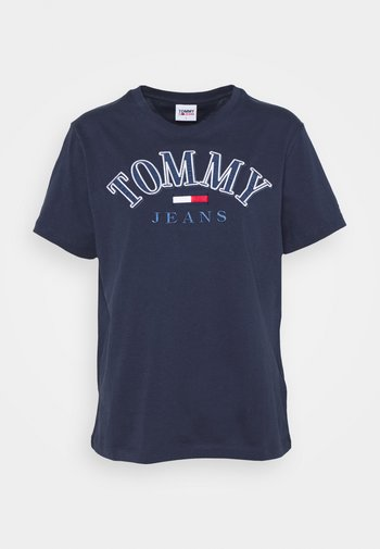 COLLEGE LOGO TEE - T-shirts med print - twilight navy