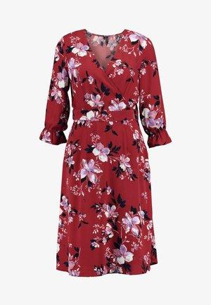 VMREEDA V NECK DRESS - Denní šaty - cowhide