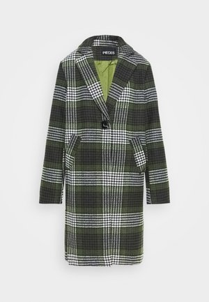 PCSIGRID COAT TALL - Classic coat - white/gray/sky captain/burnt olive
