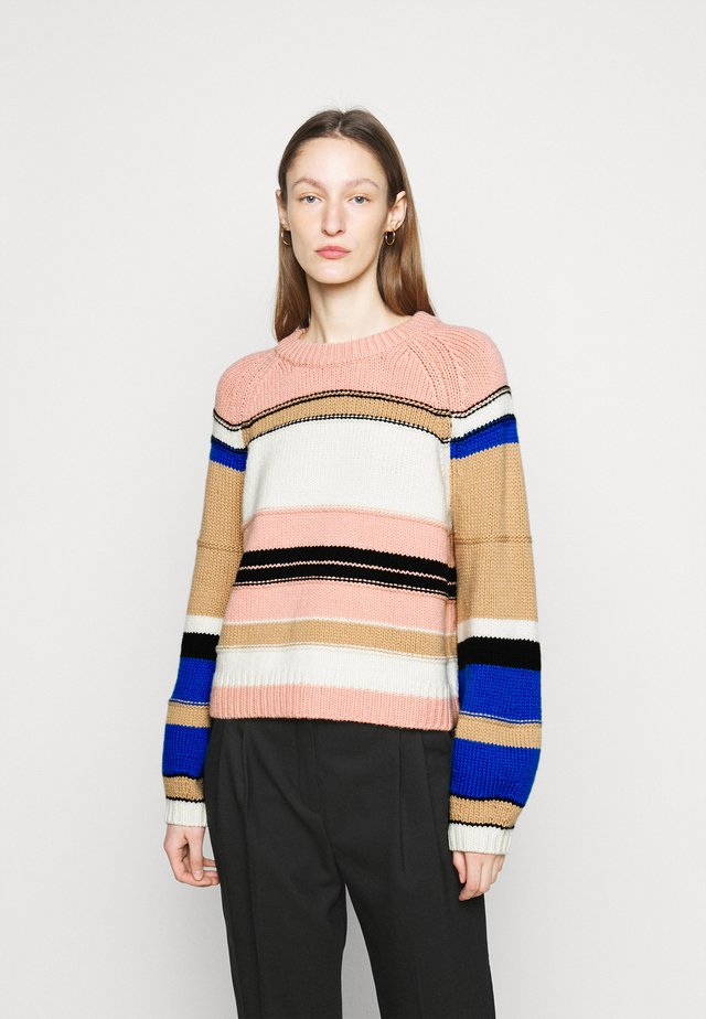 STRIPE RAGLAN - Trui - mellow rose