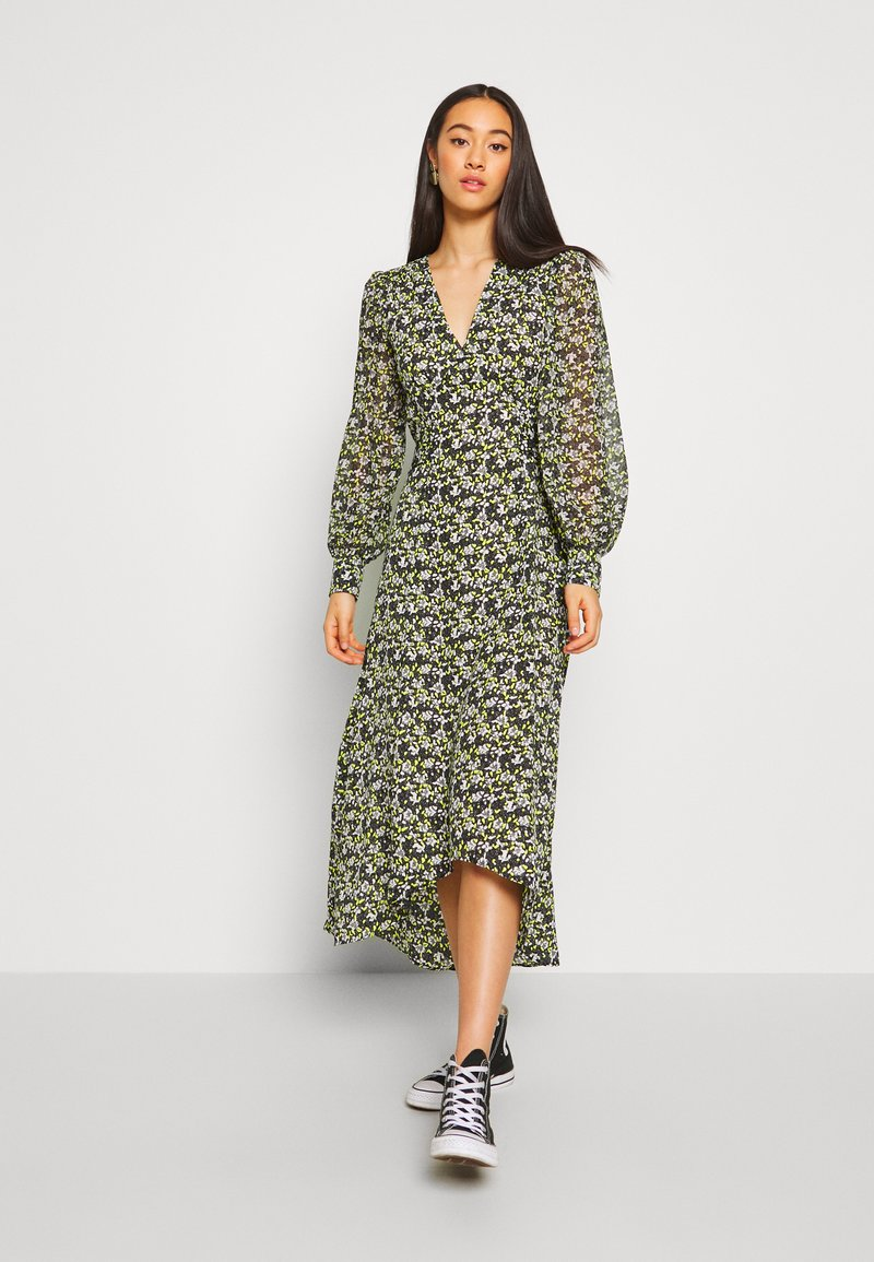 Topshop - STEEPLE FRONT MIDI - Day dress - yellow