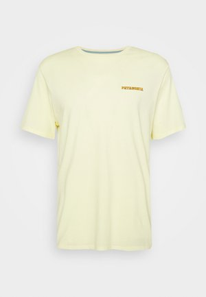 SUMMIT ROAD ORGANIC - T-shirt imprimé - resin yellow
