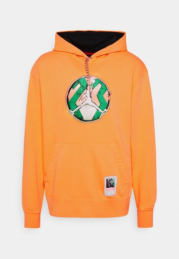 WASHED HOODIE - Sweatshirt - atomic orange
