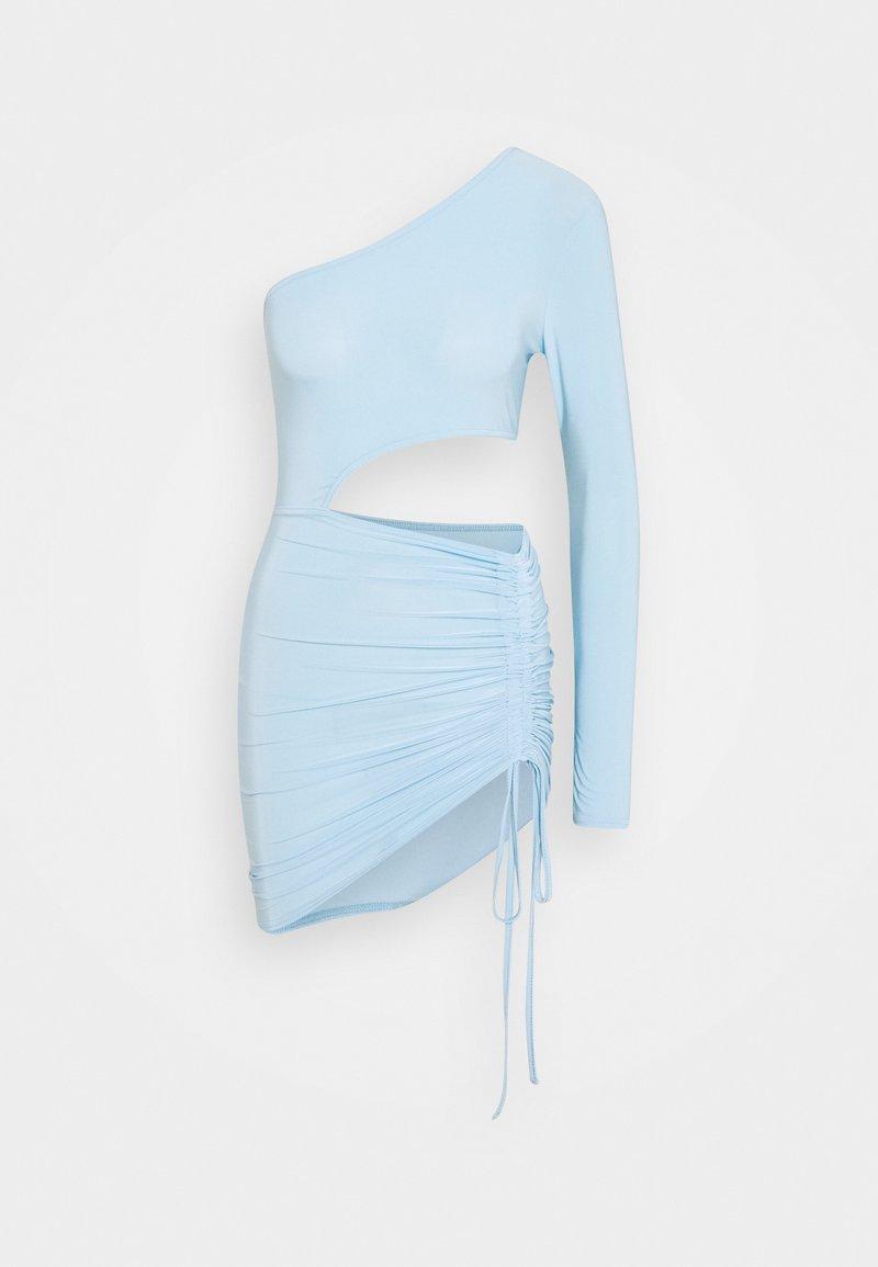 Missguided - SLINKY SEAM FREE CUT OUT MINI DRESS - Day dress - blue