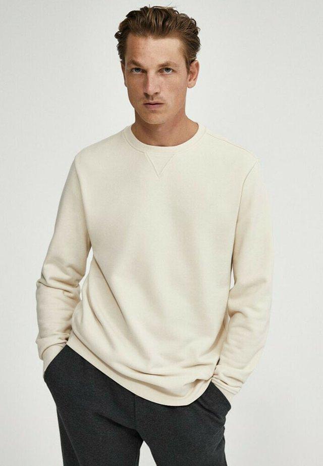 MIT KONTRASTDETAIL - Sweatshirt - beige