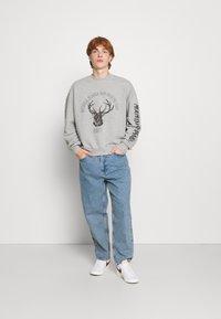Jaded London - DEER GRAPHIC - Sweatshirt - grey marl - 1