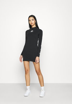 AIR DRESS - Jersey dress - black