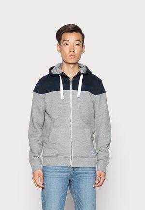 COLORBLOCK ZIPPER JACKET - Zip-up sweatshirt - middle grey mélange