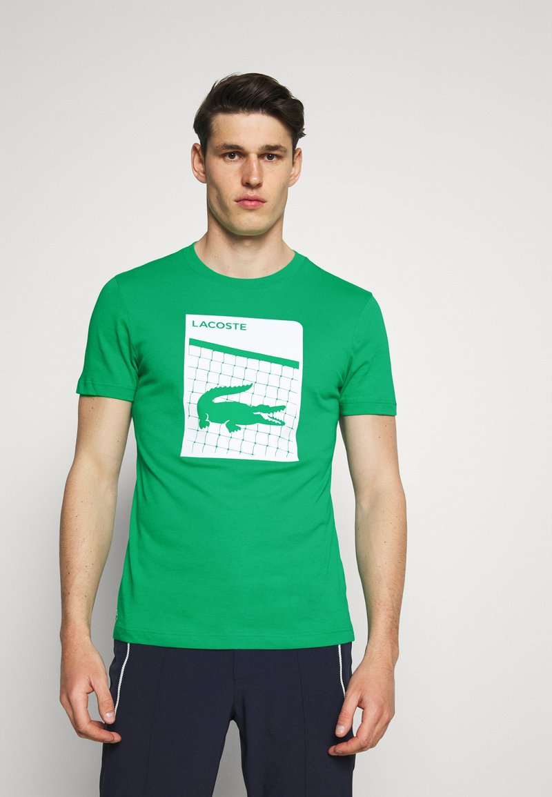 Lacoste Sport - GRAPHIC - Triko spotiskem - palm green