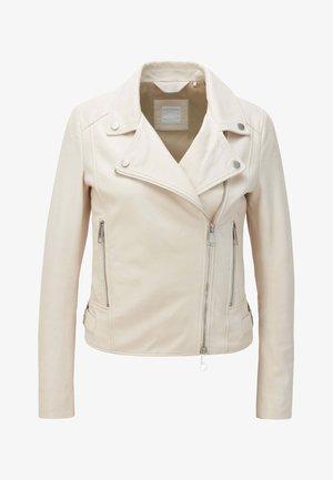 JUANA - Leather jacket - natural