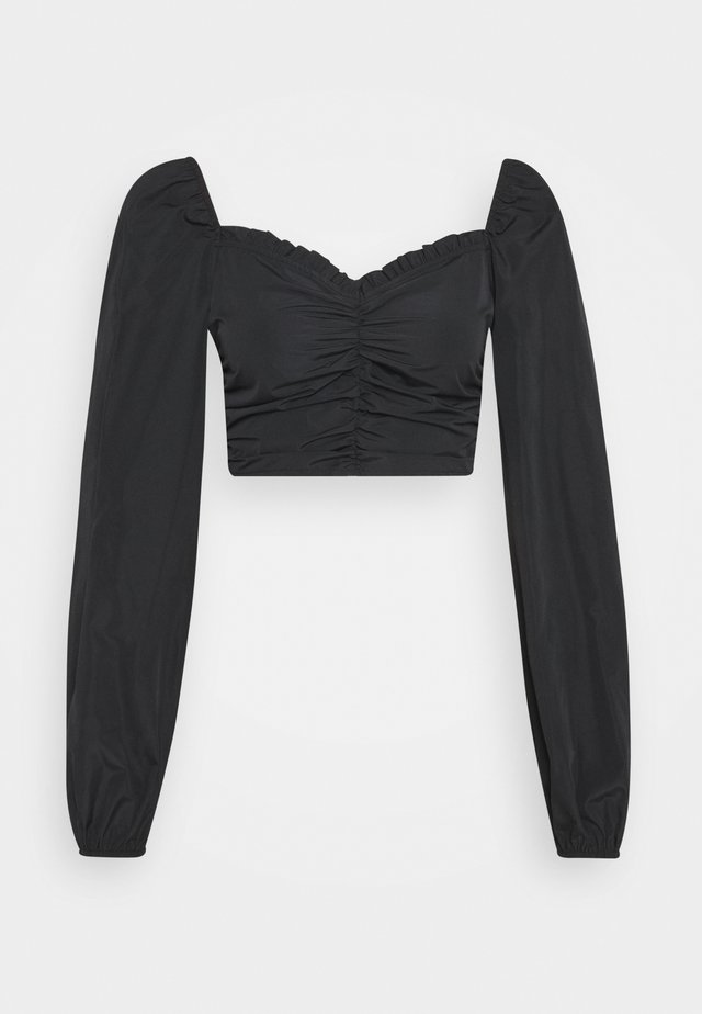 RUCHED MILKMAID - Blouse - black