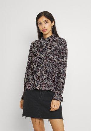 NMWANDA - Button-down blouse - black/abstract
