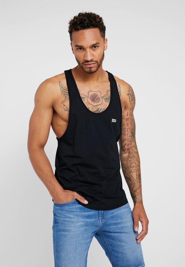 LOOSE TANK - Linne - black