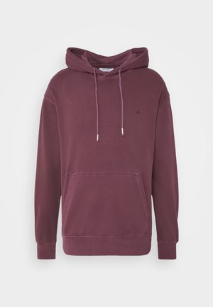 JJEWASHED HOOD - Luvtröja - port royale/relax/overdyed