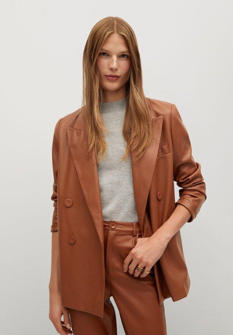 Mango - CHOCO-I - Blazer - brun