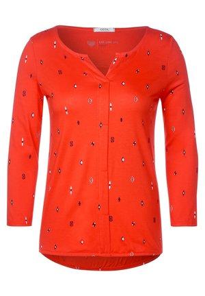 MIT IKAT PRINT - Long sleeved top - orange