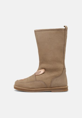LEATHER - Boots - taupe