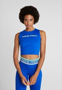 Nike Performance - CROP TANK - Funktionsshirt - game royal/black - 0