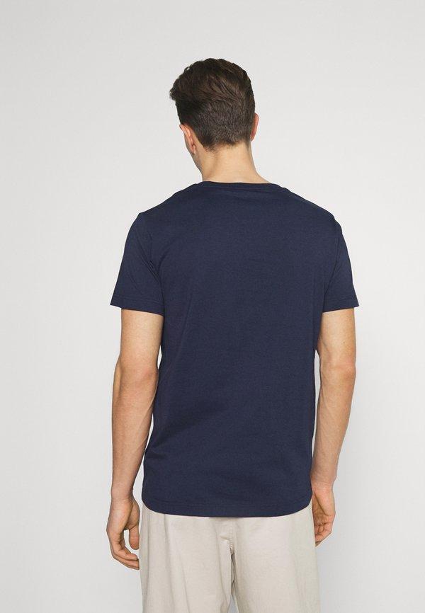 GANT ARCHIVE SHIELD - T-shirt z nadrukiem - evening blue/granatowy Odzież Męska UYMA