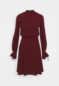 Victoria Victoria Beckham - TIE SLEEVE PLEATED DRESS - Day dress - iron red - 3