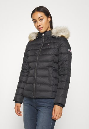 BASIC HOODED JACKET - Daunenjacke - black
